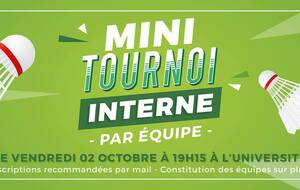Tournoi interne le 2 octobre 2020